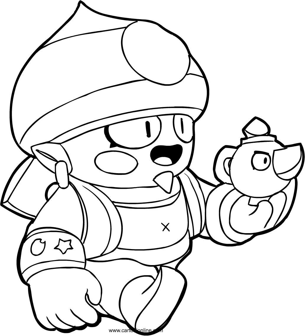 Gene from Brawl Stars coloring page