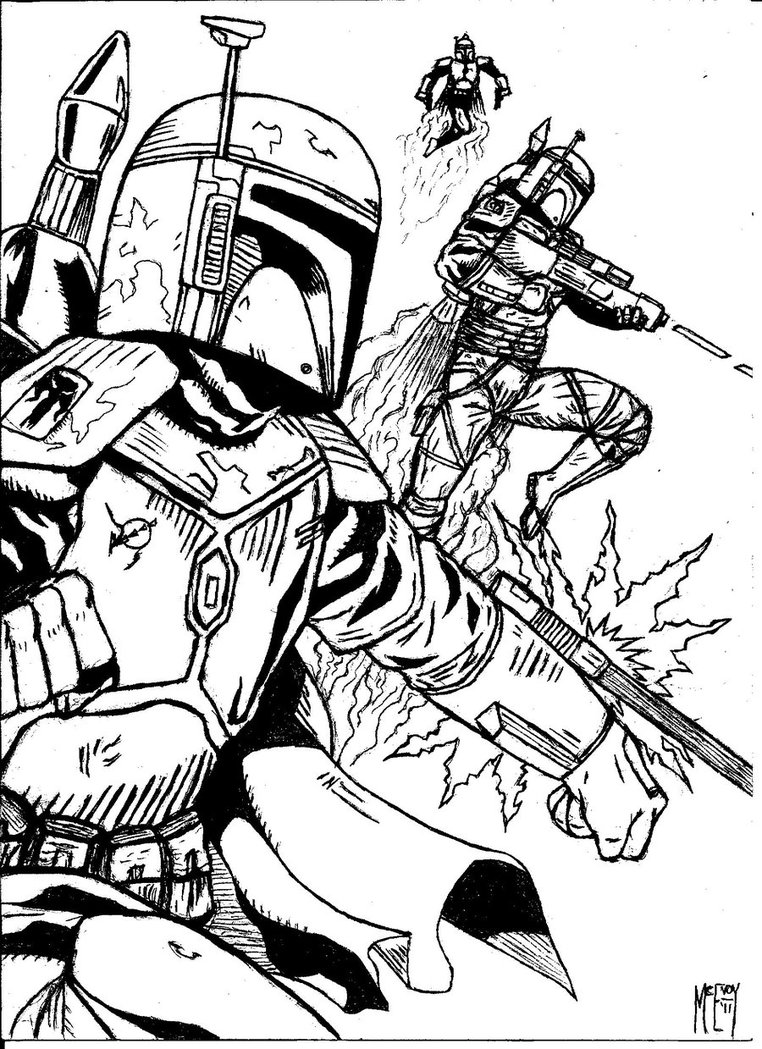 Boba Fett Coloring Pages - GetColoringPages.com - Coloring Home