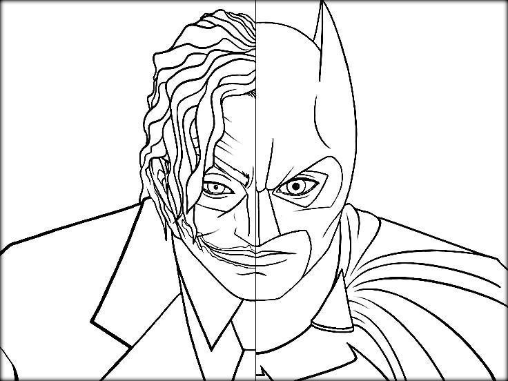 Printable Batman Joker Coloring Pages - Color Zini