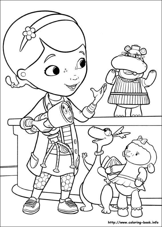 Doc McStuffins Coloring Pages On Coloring-Book.info - Coloring Home