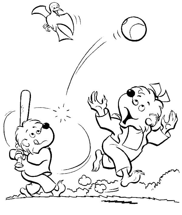 Coloring Book Pages Berenstein Bears