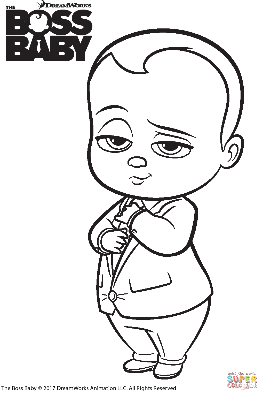 The Boss Baby coloring page | Free Printable Coloring Pages