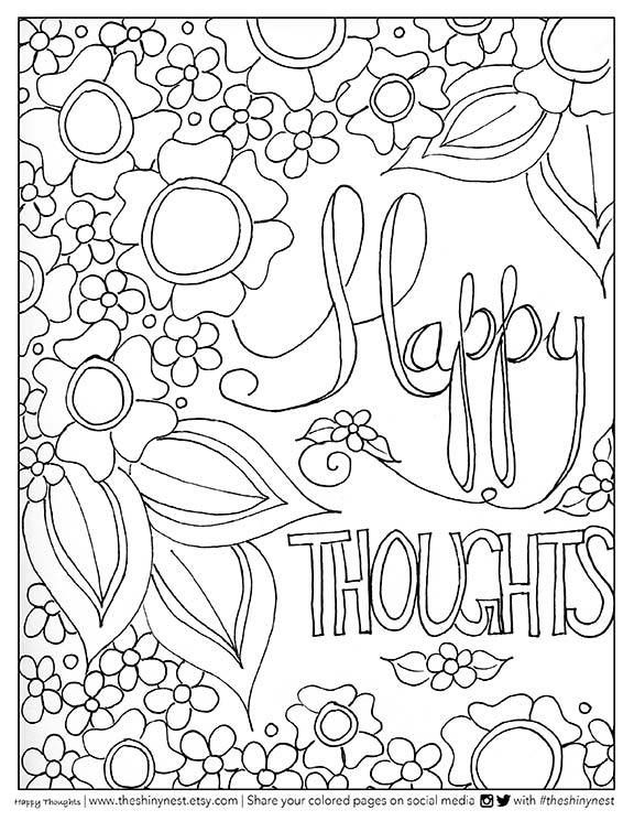 17 Best ideas about Quote Coloring Pages on Pinterest | Free adult ...