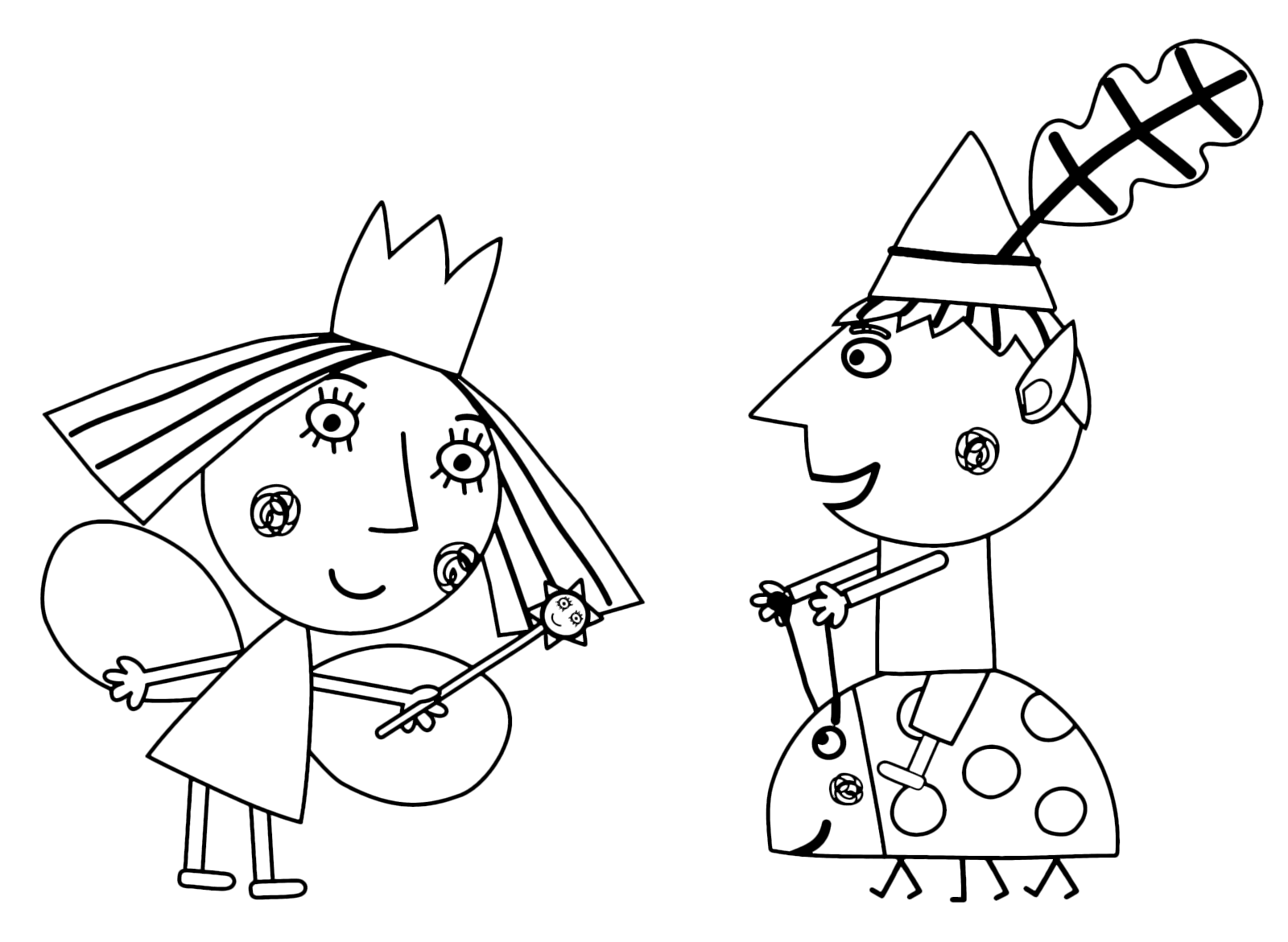 Ben And Holly Coloring Pages Coloring Home