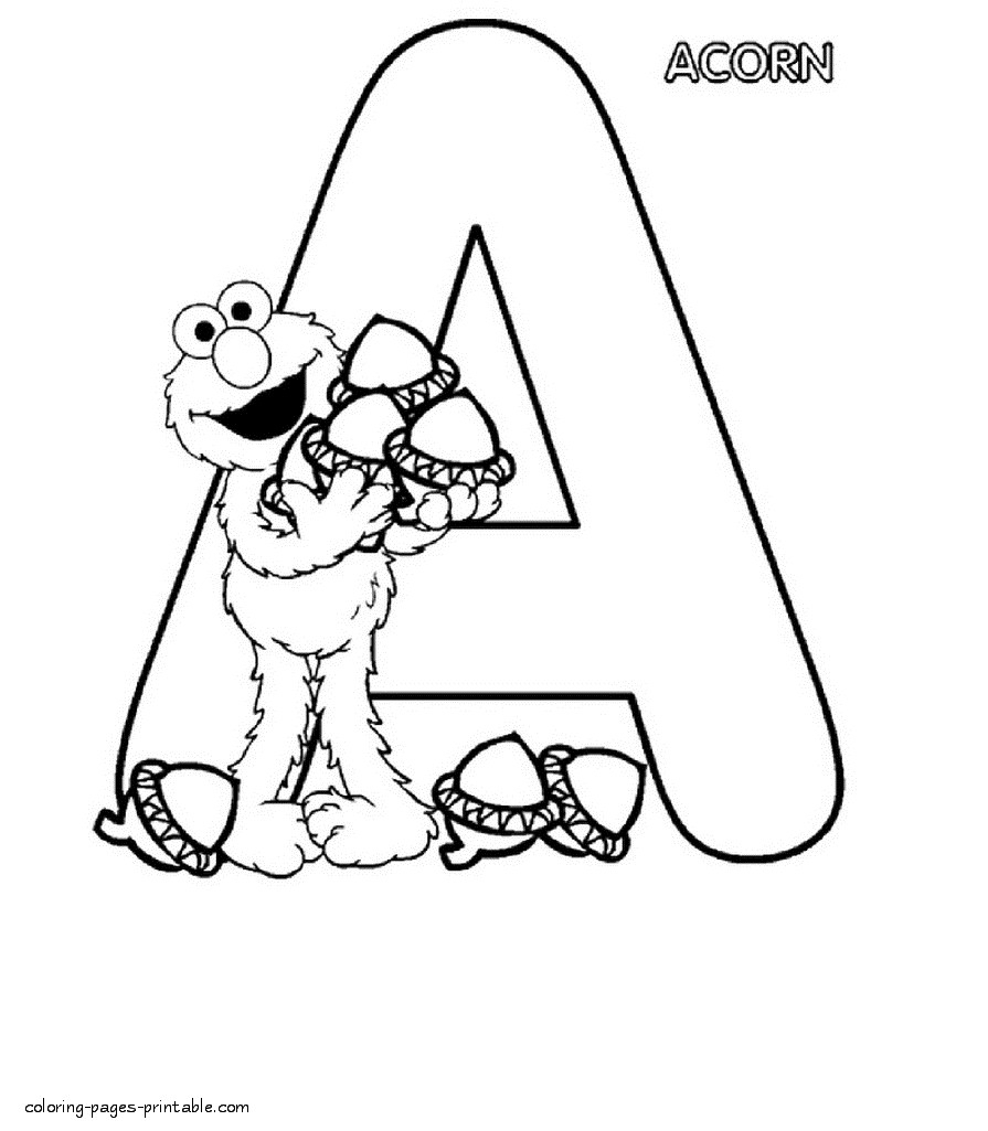 Letter A Coloring Pages Letter O Coloring Pages Coloring Pages For ...