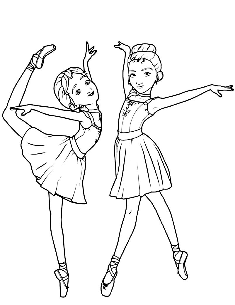 Dancers Coloring Pages Coloring Home