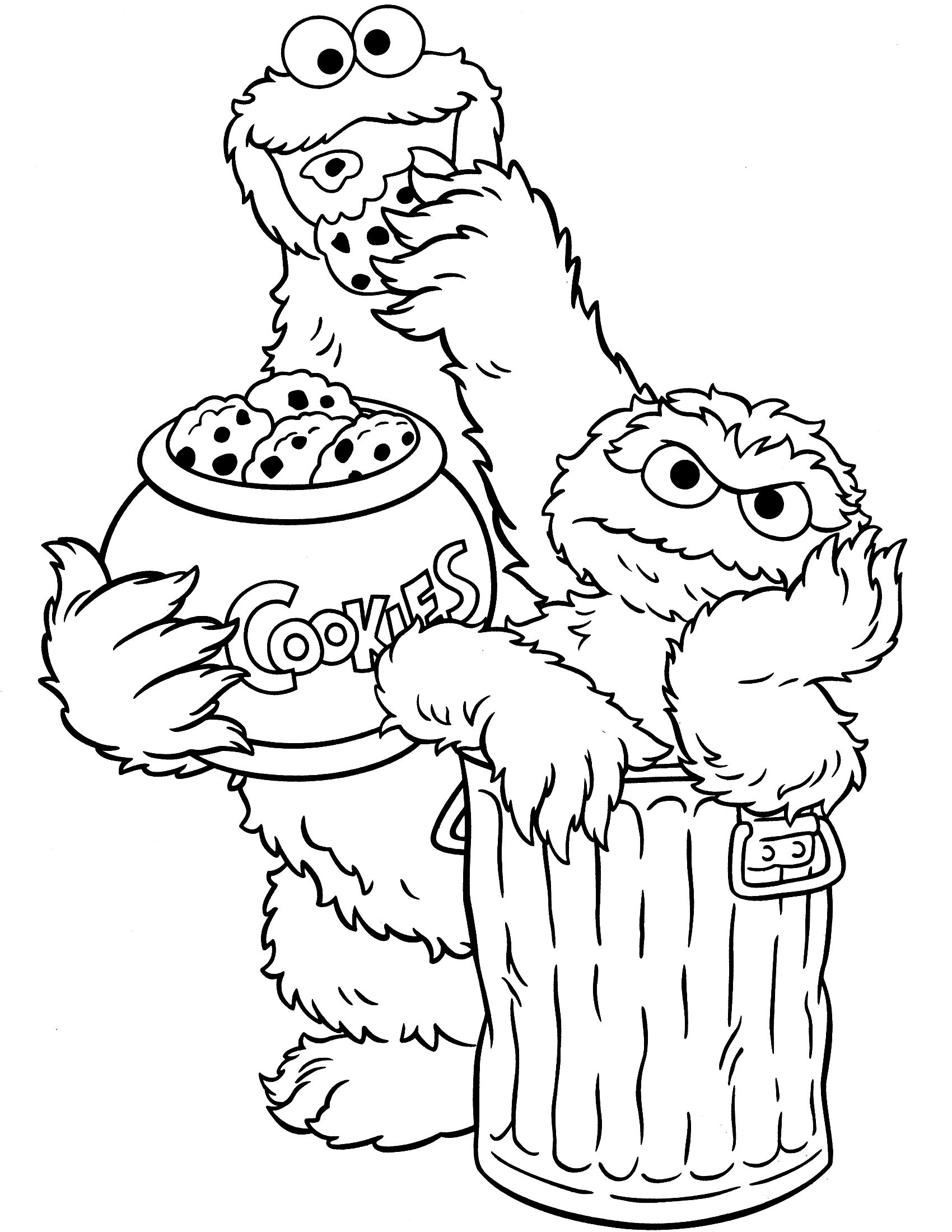 coloring pages oscar the grouch - photo#26