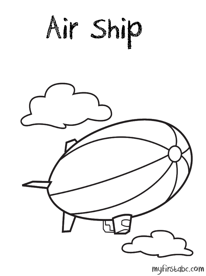 Air Transportation Coloring Pages - Coloring Home