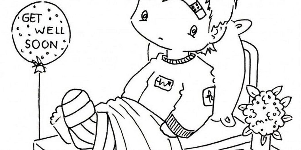 get well cards coloring pages - photo#21