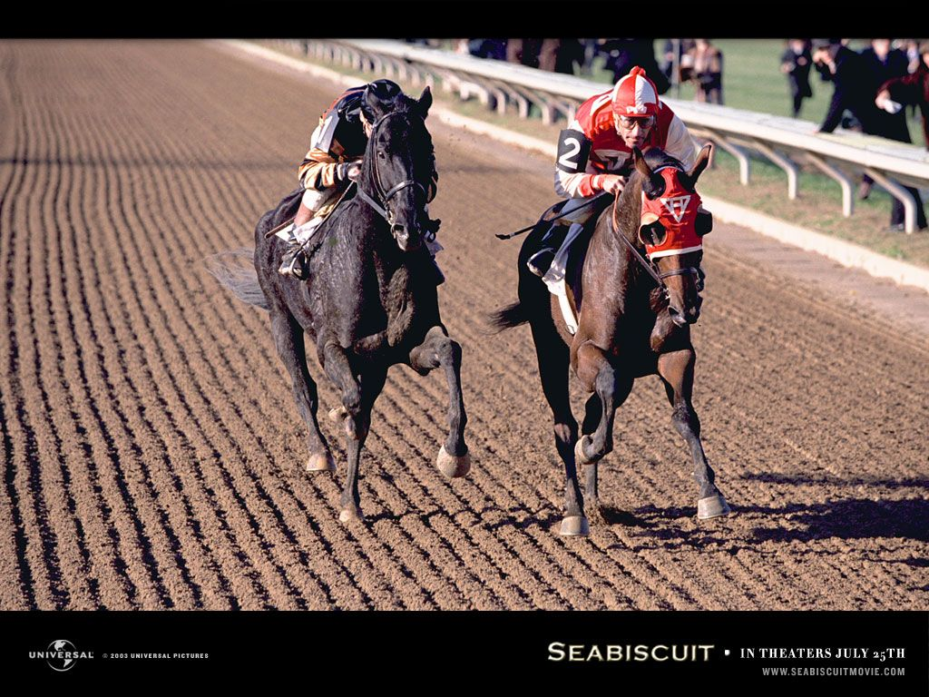 seabiscuit movie review T the peak of his celebrity in the late 1930's, seabiscuit, a runty, crooked-legged racehorse rescued from obscurity by a california car dealer, was the most famous mammal in america, surpassing even franklin d roosevelt in media attention and popular esteem.