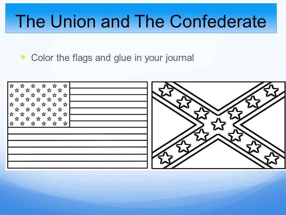 Civil War Union Flag Coloring Page