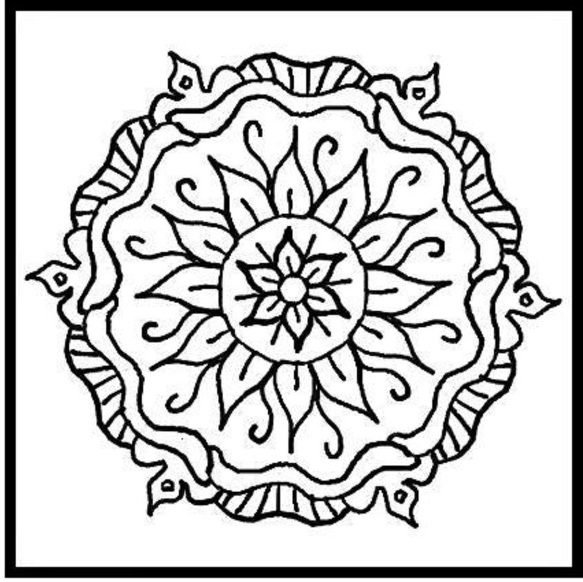 Tribal Pattern Aztec Coloring Pages To And Print For Free