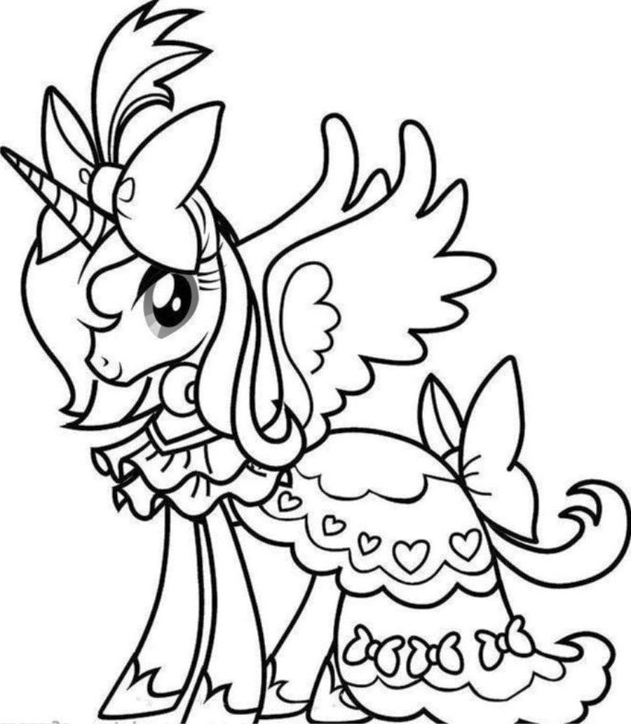 Unicorn Rainbow Coloring Pages - Coloring Home
