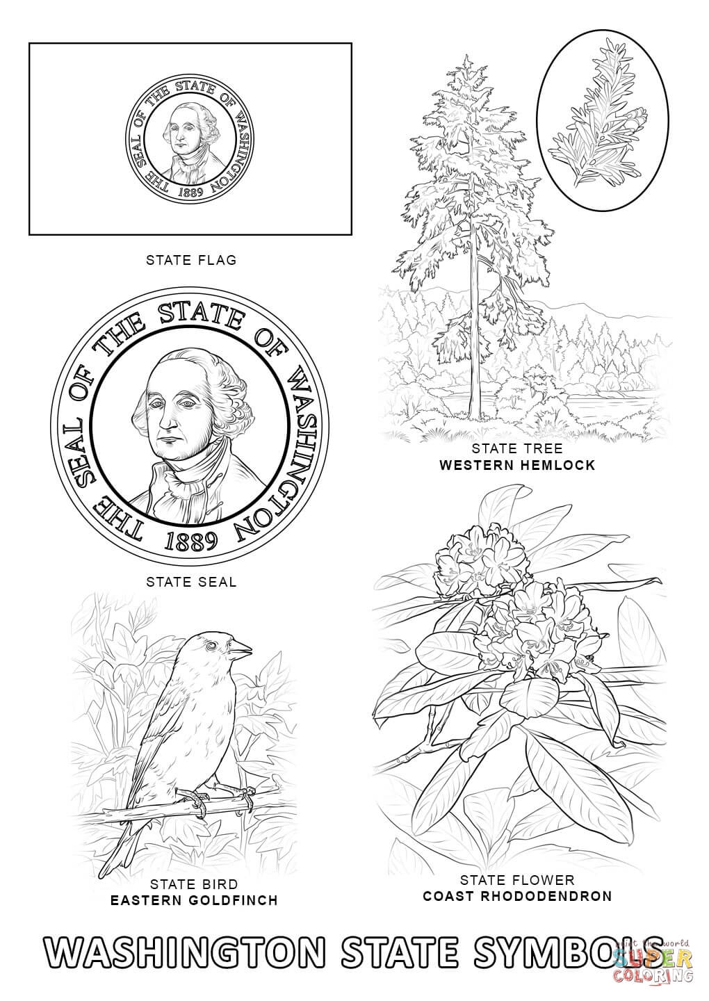 Washington State Educational Coloring Pages - Coloring Home