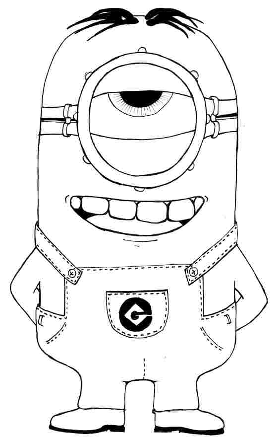 Free Printable Despicable Me Minion Coloring Pages Nice