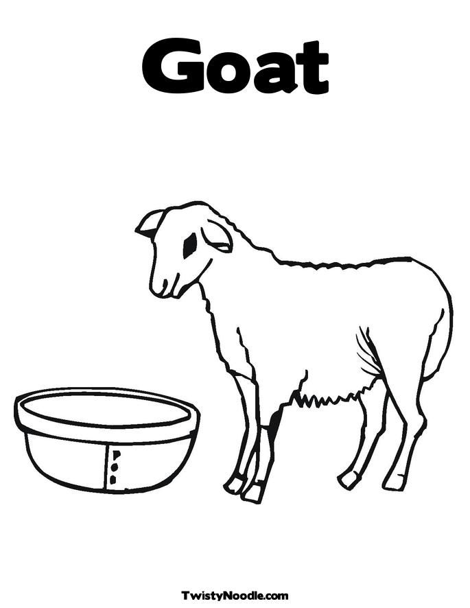 Best Photos Of Boer Goat Coloring Pages Printable