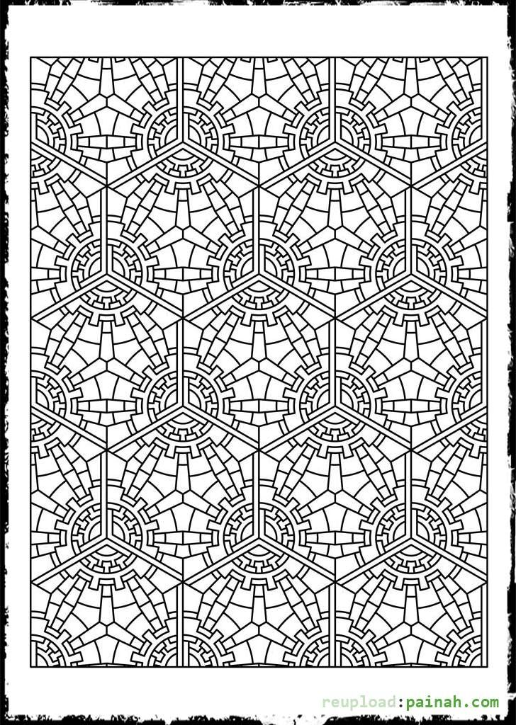 Printable Tessellation Patterns To Color - Coloring Pages for Kids ...