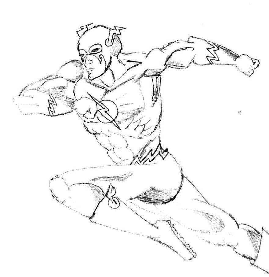 Coloring Pages The Flash