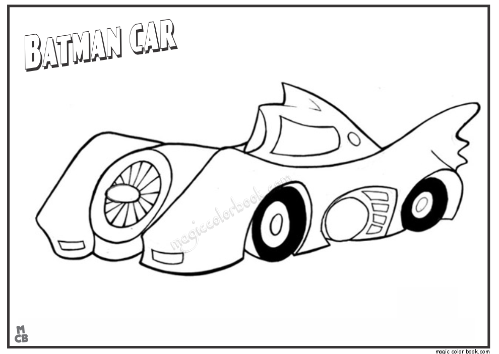 car coloring pages batman coloring pages for all ages