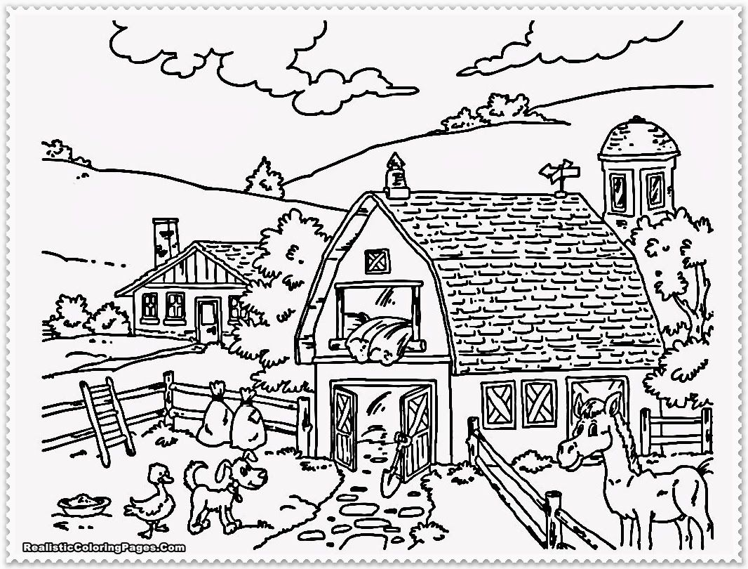 Detailed Landscape Coloring Pages For Adults Coloring Online