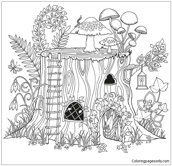 Secret Garden Coloring Pages - Coloring Home