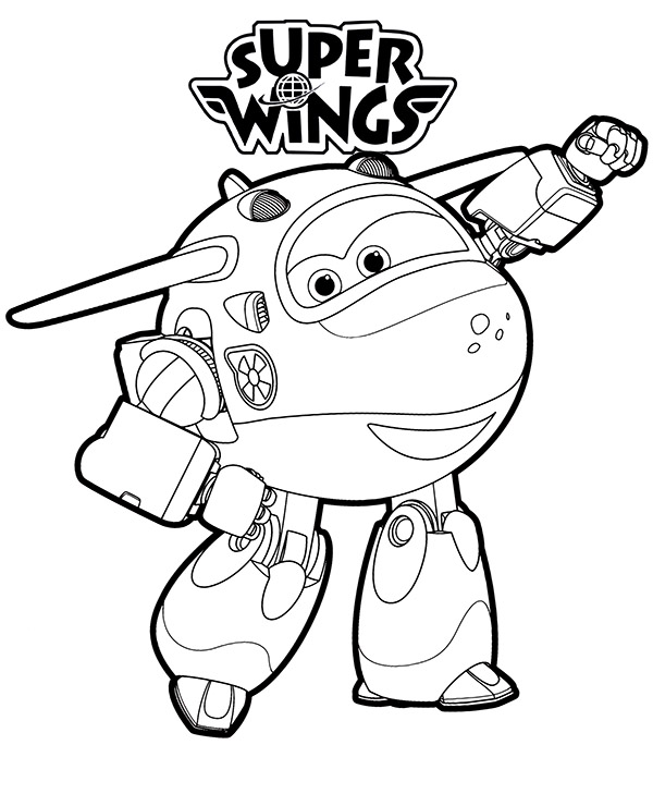 Mira transformed Super Wings free coloring pages
