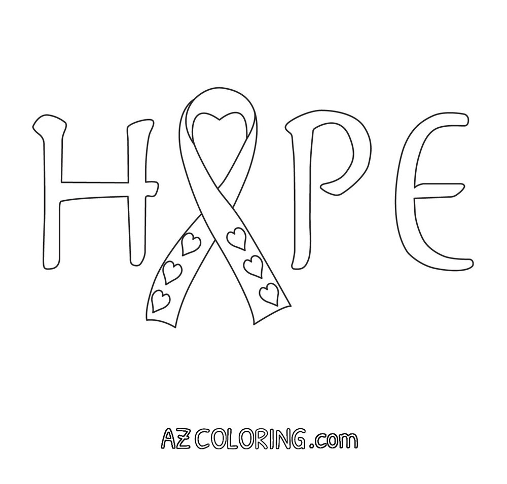 Breast Cancer Awareness Coloring Page