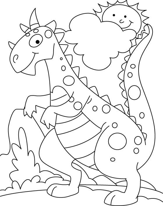 dinosaur coloring pages for kids cartoonrockscom - Dinosaurs Coloring Pages