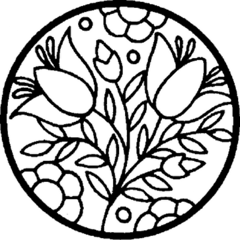 Mosaic coloring pages free printable - Flower Mosaic Coloring Pages Mosaic Coloring Pages Printable Roman