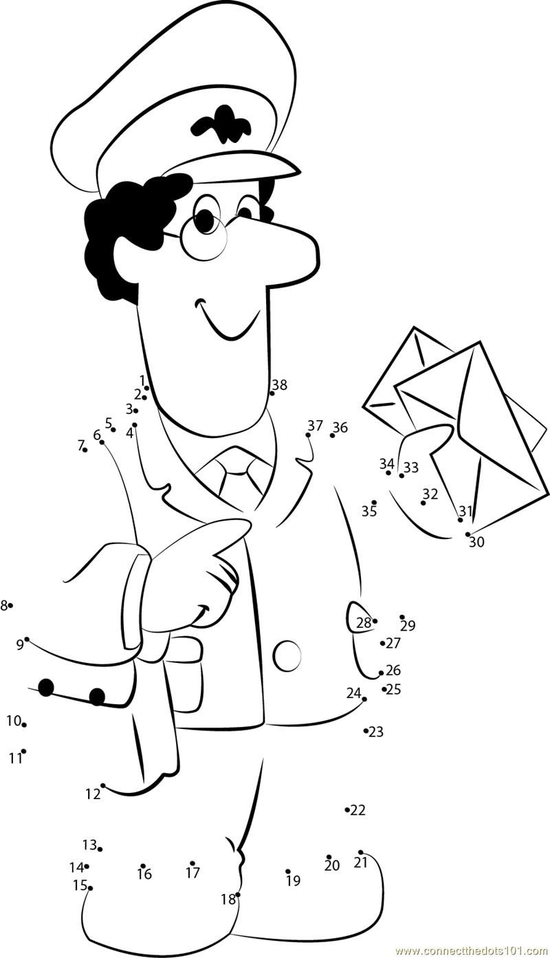 mailman coloring pages for toddlers - photo#27