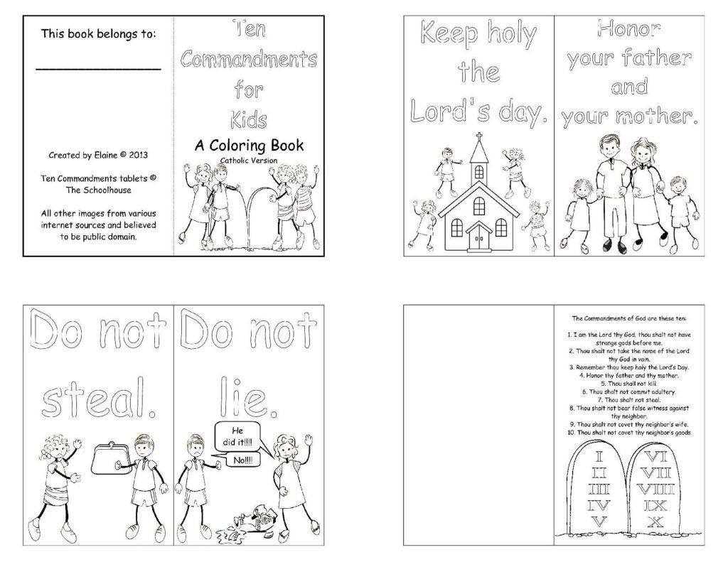 Coloring pages moses and ten commandments - Saints Day Moses Ten Commandments Saints Day Coloring Page Color A