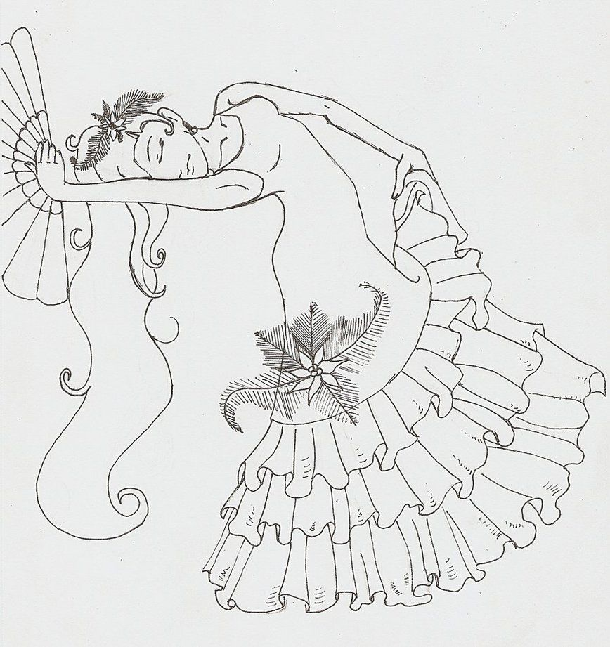 spanish dancer coloring pages - photo#11
