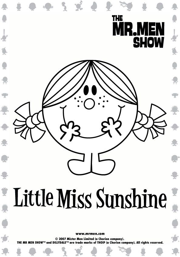 Little Miss And Mr Characters