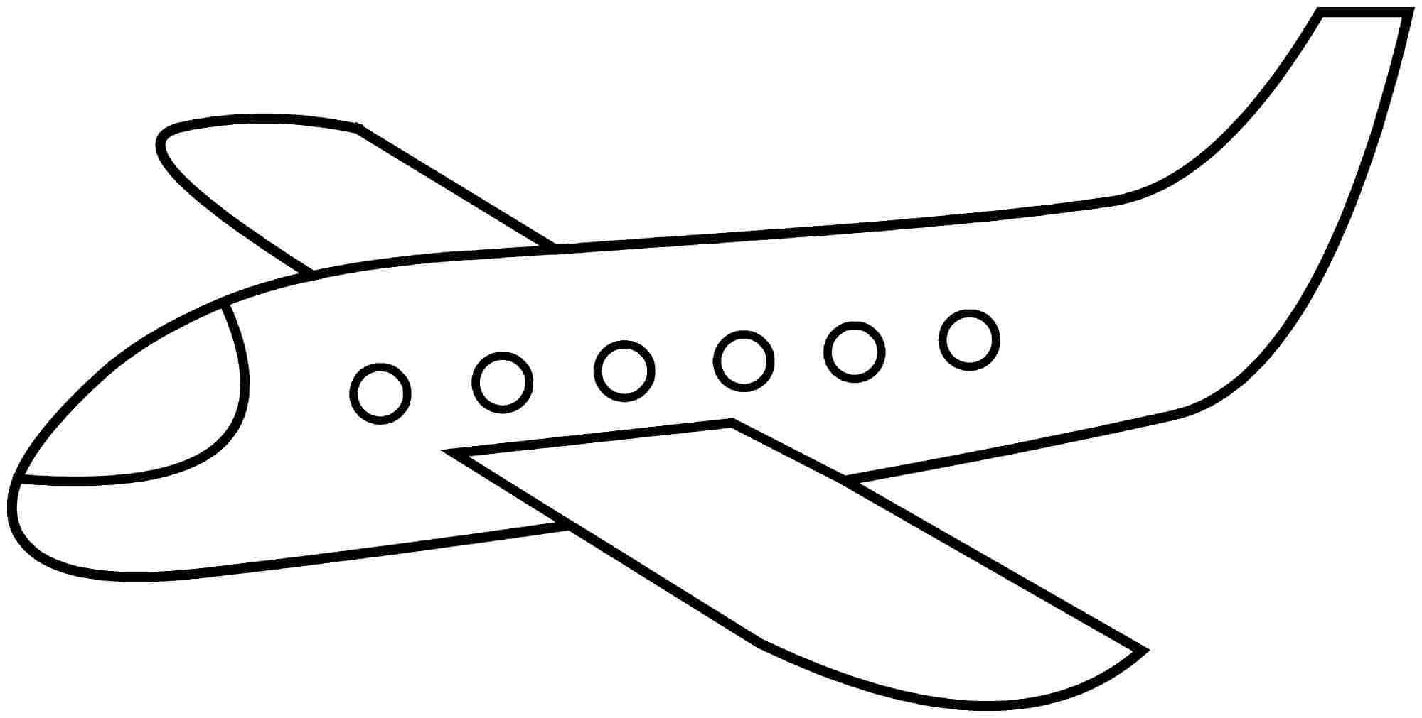 Coloring Pages For Airplanes : Airplane coloring pages preschool for all