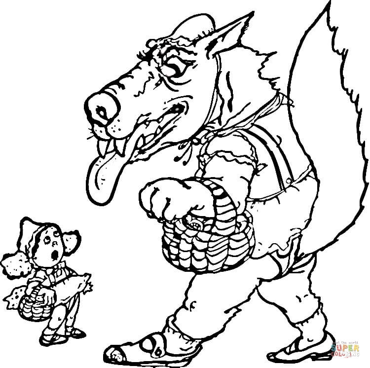Little Red Riding Hood Coloring Pages Free Coloring Pages
