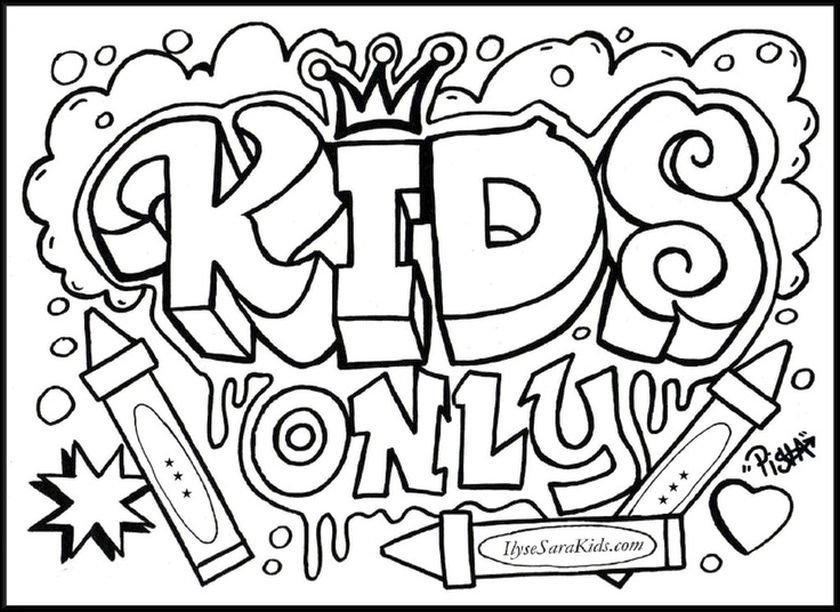 graffiti coloring book pages coloring pages for kids and for adults - Graffiti Coloring Book