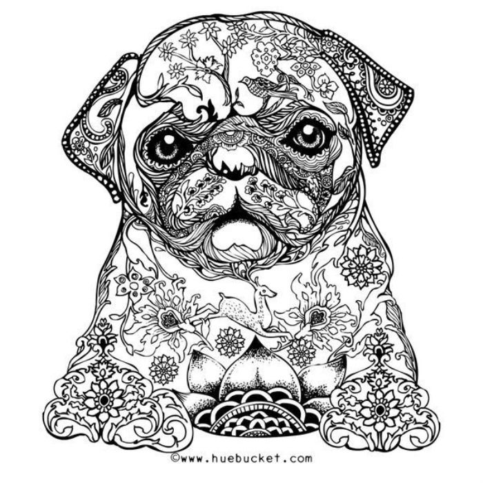 Hard Puppy Coloring Pages AZ