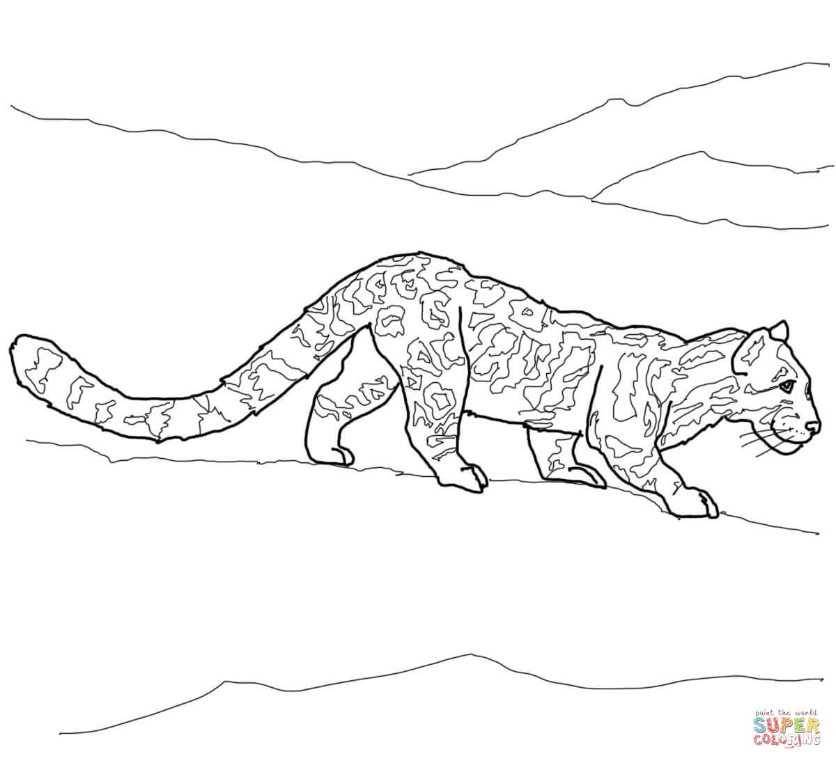 Clouded Leopard Coloring Pages