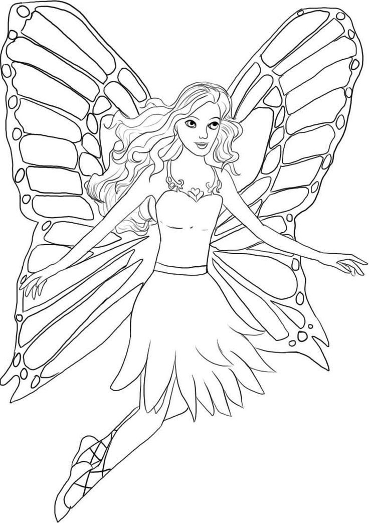 Barbie Fairy Coloring Pages Printable Free - Coloring Pages For ...
