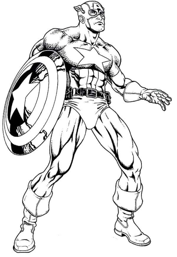 Captain America Coloring Pages And Book Uniquecoloringpages Coloring Home