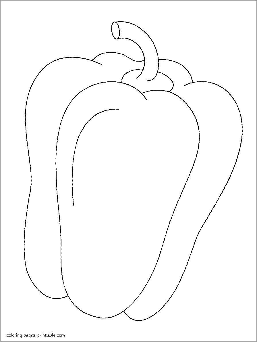 Hot Pepper Coloring Page - ColoringBay