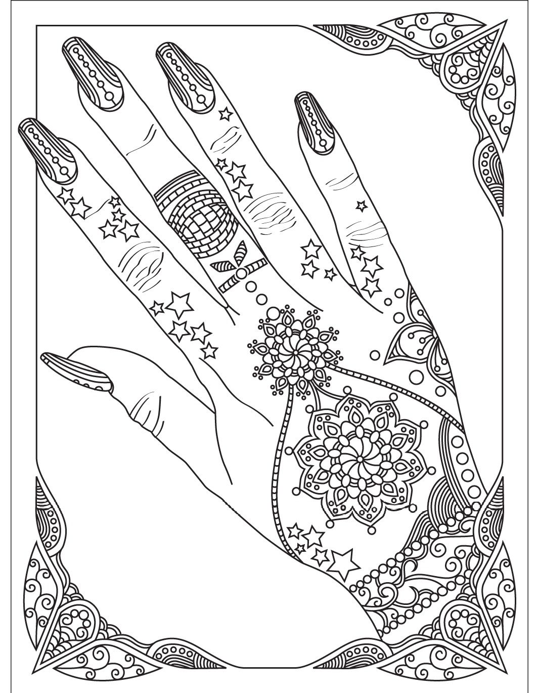 Nails | Colorish: coloring book app for adults by GoodSoftTech | Coloring  book app, Coloring books, Cute coloring pages