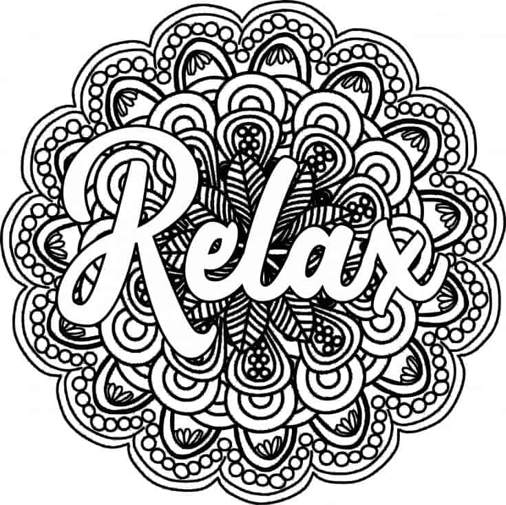 Relax Coloring Pages - Coloring Home