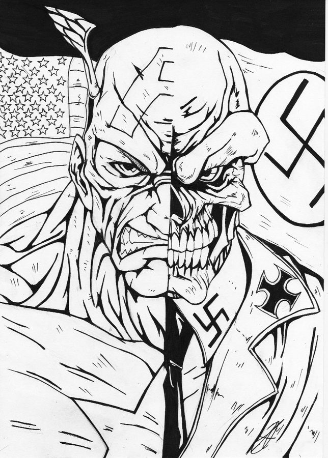 Coloring pages: Coloring pages: Red Skull, printable for kids & adults, free