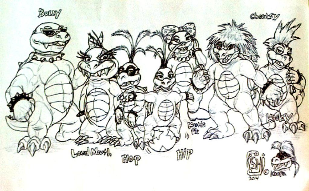 Koopalings Coloring Pages - Coloring Home