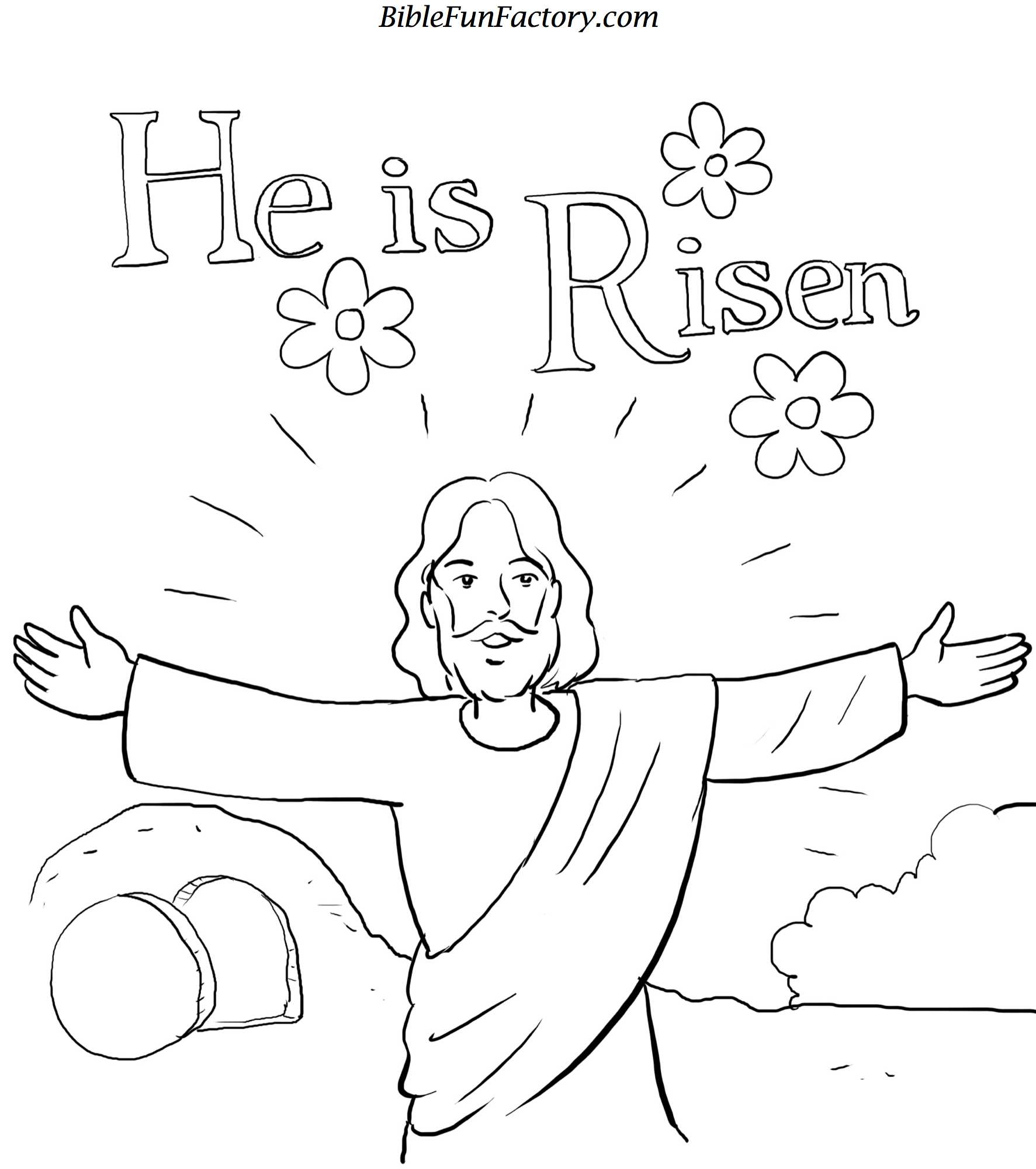 Free Easter Bible Coloring Pages for Pinterest
