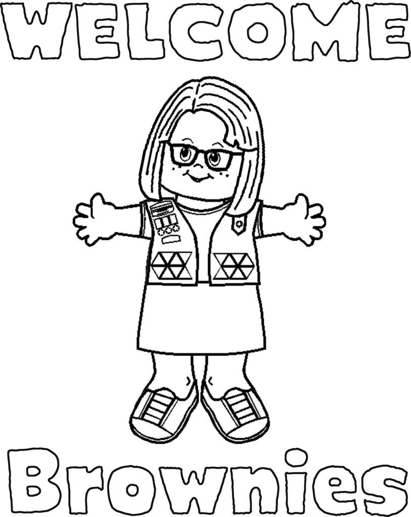 It is a graphic of Trust Girl Scout Brownie Coloring Page