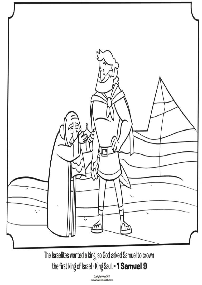 King saul coloring page az coloring pages for Bible coloring pages king saul