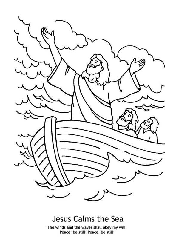 Jesus Calms The Storm Coloring Page Az Coloring Pages Calms Coloring Page