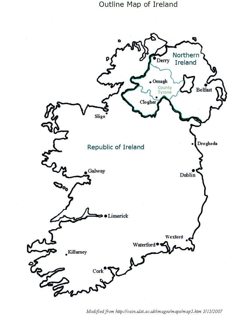 Best Photos Of Ireland Map Outline Printable - Ireland Map ...